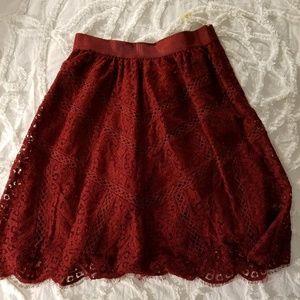 "Ann Taylor Skirts - Ann Taylor ""Marsala"" Lace Skirt"